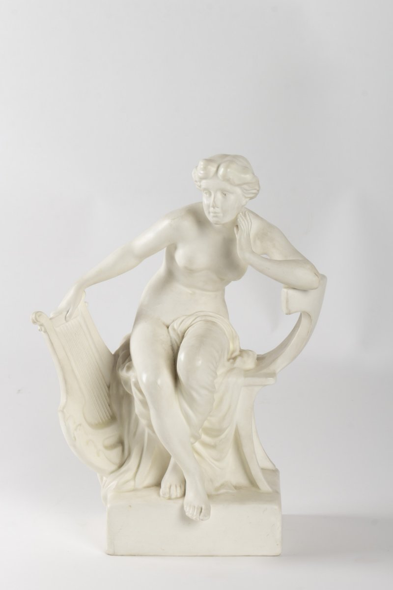 Goldscheider / Tell Sculptue Woman On Her Throne