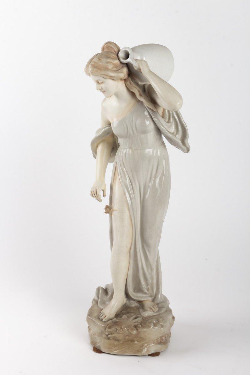 Bernard Bloch Sculpture Femme Au Papillon Signee Tschoop