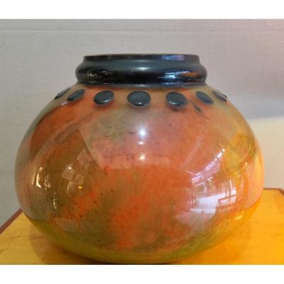 Vase Emaille Marcel Goupy