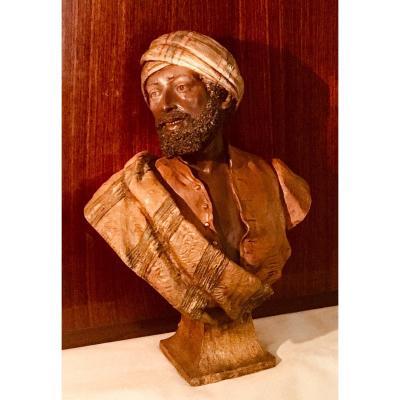 Goldscheider Bust Orientalist Man Terracotta