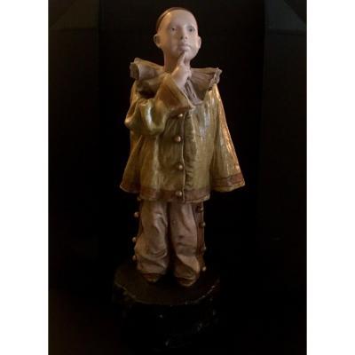 Goldscheider  /hans Lerche   Sculpture Pierrot