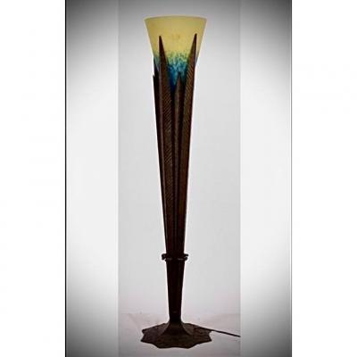 Importante Lampe En Fer Forge De Robj Et Schneider Lampe