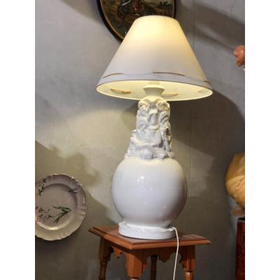 Rare Lampe De Robj Les Quatre Continents