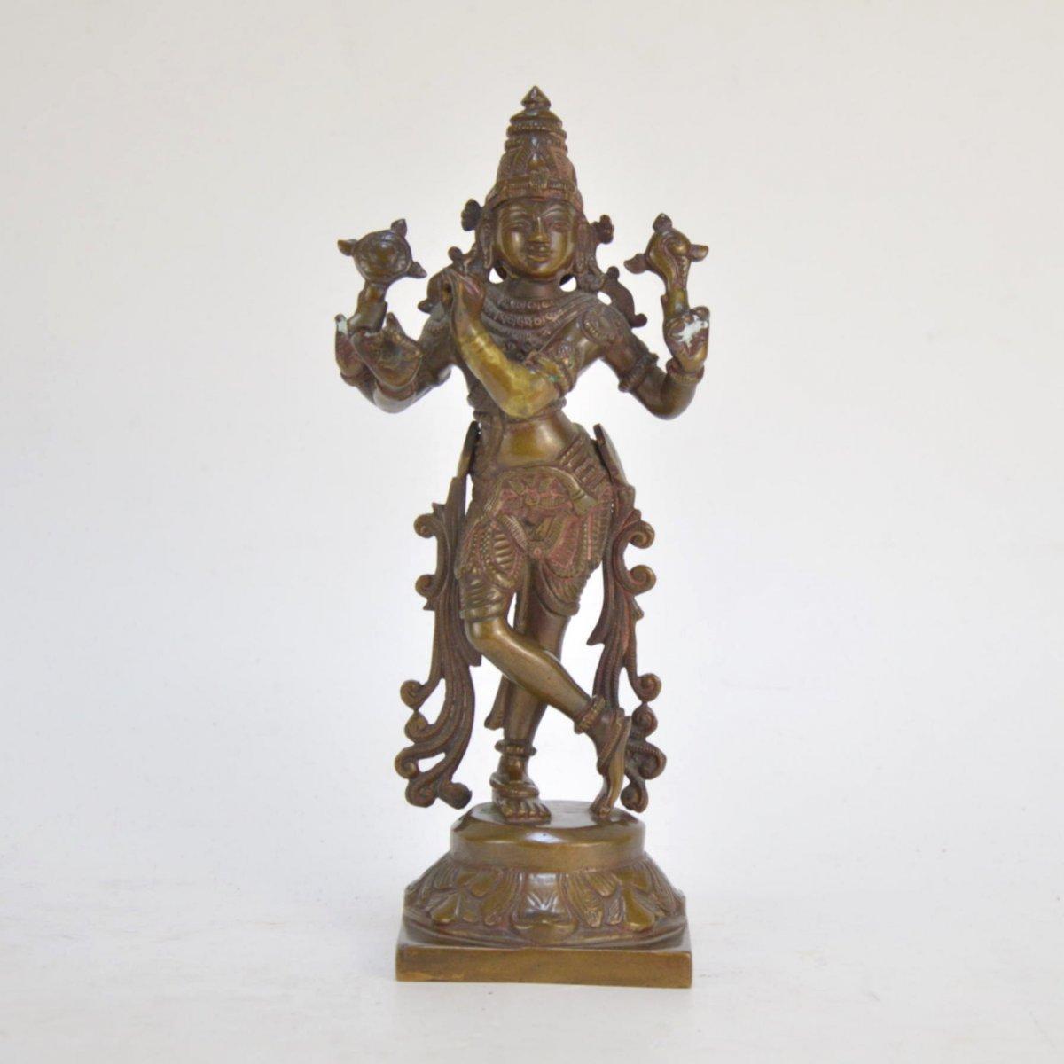 Shiva Patinated Bronze Statue