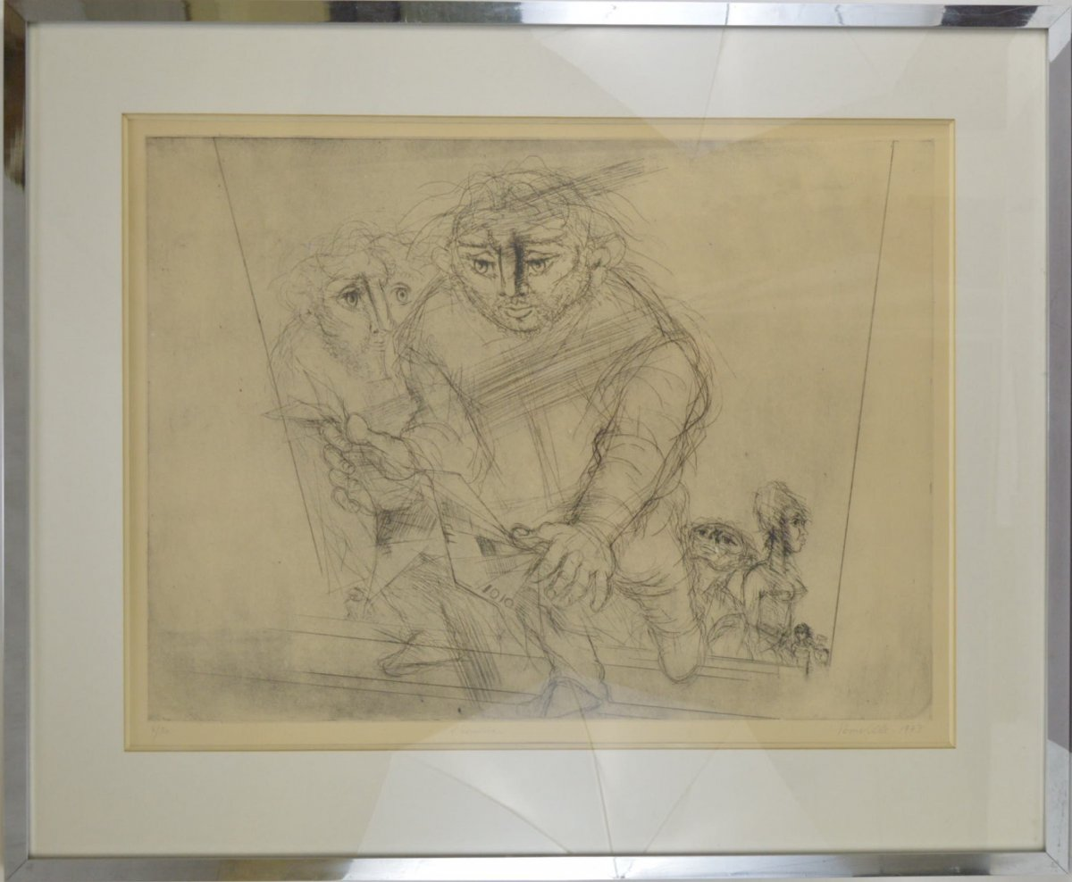 Roger Somville (1923-2014) Etching l'Escalier 4/30 Signed And Dated 1973