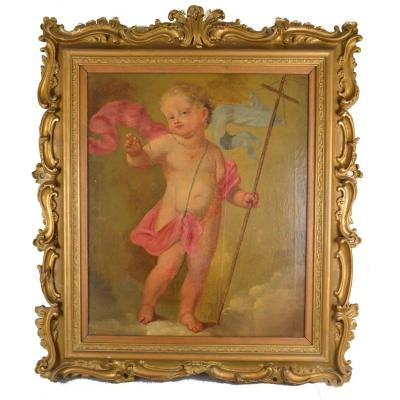 Painting Depicting The Infant Saint John The Baptist, 18th Century