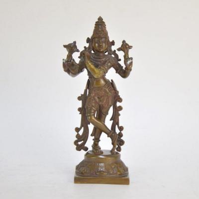 Shiva Patinated Bronze Statue