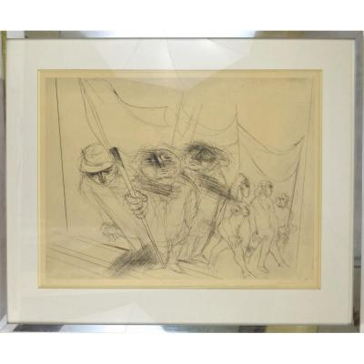 Roger Somville (1923-2014) Etching The Manifestation 4/30 Signed And Dated 1973