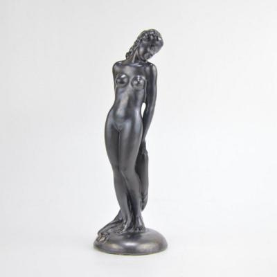 Stephan Dakon Art Deco Ceramic Sculpture Nude Keramos Austria