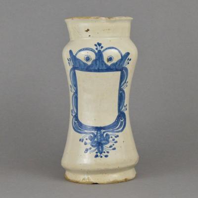 Arbarello Tin Earthenware With White Blue Decor Italy 17th Century