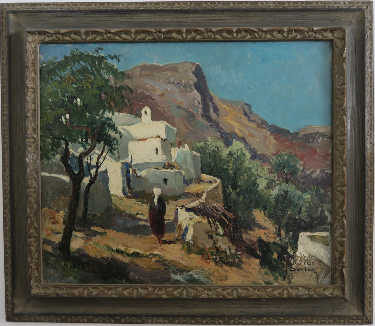 Painting Signed Maurice Martin (1894-1978) Landscape Rhodes