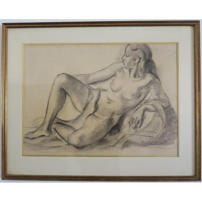Big Nude Drawing By Maurice Melat (1910-2001)