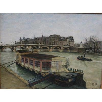 Panoramic View Of Paris Signed Pierre Farge (1878-1947)