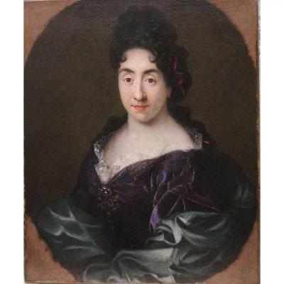 Portrait Femme XVII  Attribué À Jouvenet Le Jeune
