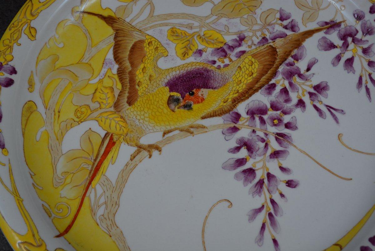 Plat Art Nouveau Rozenburg En Porcelaine Peinte -photo-1