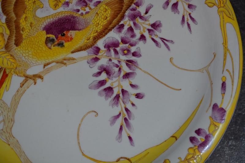 Plat Art Nouveau Rozenburg En Porcelaine Peinte -photo-4