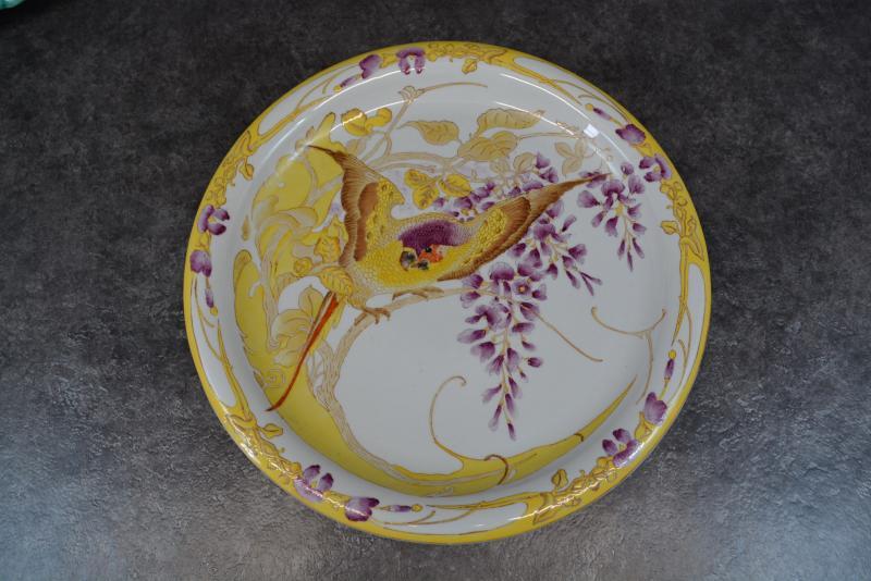 Plat Art Nouveau Rozenburg En Porcelaine Peinte -photo-2