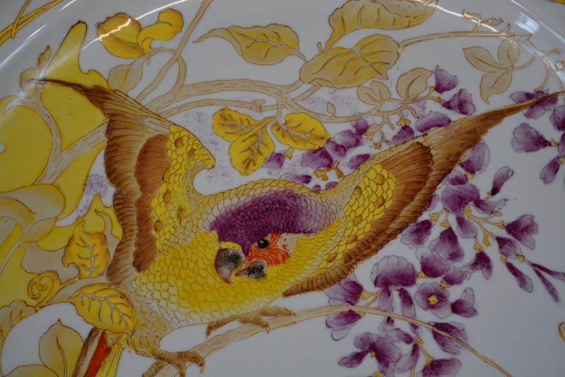 Plat Art Nouveau Rozenburg En Porcelaine Peinte -photo-3