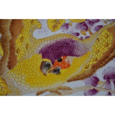 Art Nouveau Rozenburg Painted Porcelain Dish