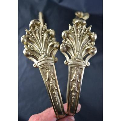 Pair Of Bronze Embrase