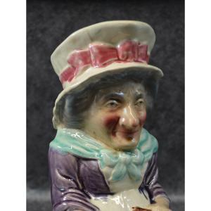 Pichet En Barbotine Judy De Sarreguemines