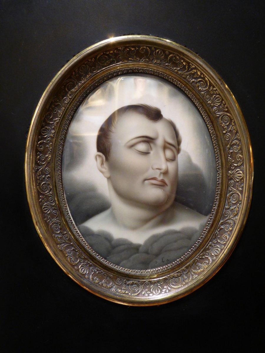 Grande Miniature Sur Ivoire: Napoleon (retour Des Cendres.)
