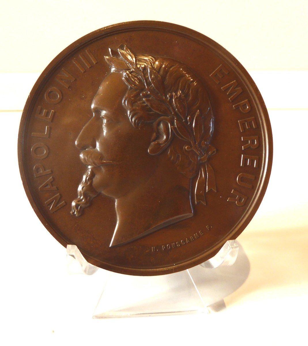 Rare Medaille  :Première Pierre De La Cathédrale De Gap  1867.-photo-2