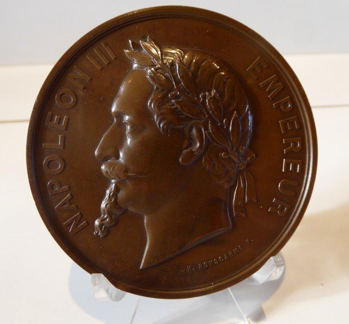 Rare Medaille  :Première Pierre De La Cathédrale De Gap  1867.-photo-3
