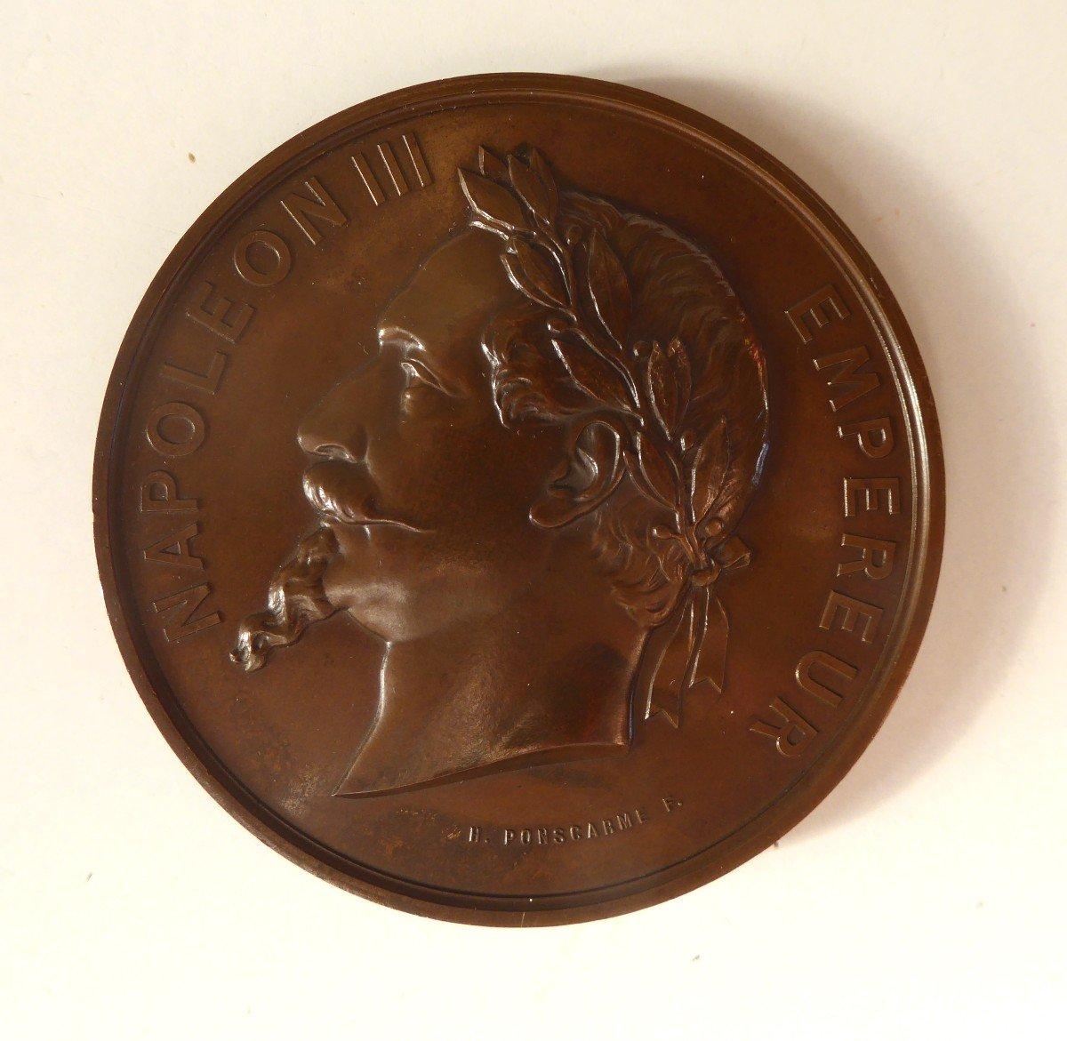 Rare Medaille  :Première Pierre De La Cathédrale De Gap  1867.