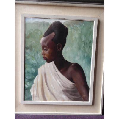 Portrait d'une jeune Africaine , Vers 1930