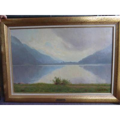"""Large Painting, """"le Lac De Gerardmer"""""""