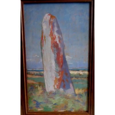 Le Menhir Du Conguel, Quiberon, By Pierre Lehoux, (1844-1896).