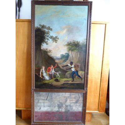 """Grand Trumeau, Late 18th,""""paul Et Virginie"""",fin 18ème Siécle."""