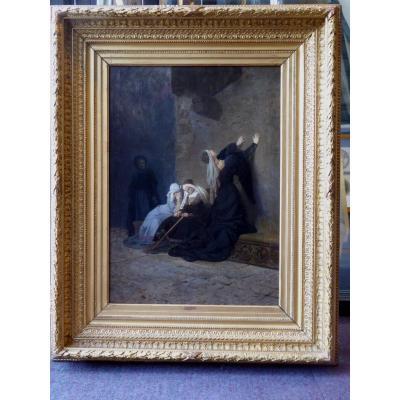 """""""affaire De La Tour De Nesle"""", Oil On Panel, 19th Century."""