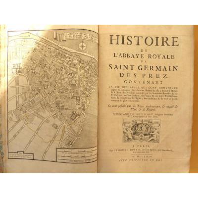 Histoire De l'Abbaye Royale De Saint Germain Des Prez,1724,e.o.