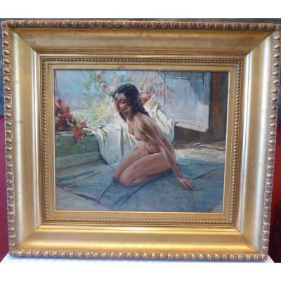 Female Nude By Richard Durando-togo Born In 1910.