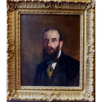 Portrait  d'un homme de qualité, Par Ricardo Lopez Cabrera .