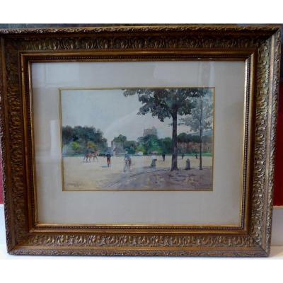 Vincennes, La Place Du Polygone, By Louis Verchain.