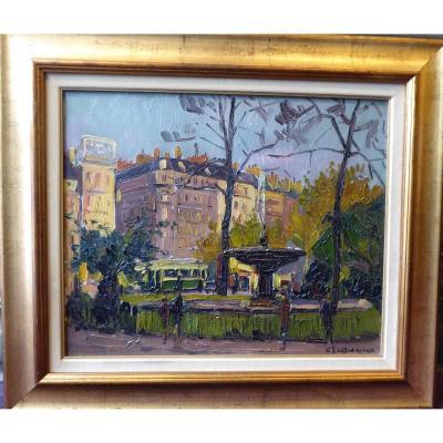 La Place Pigalle à Paris Vers 1930 ,gaston De La Querrière.