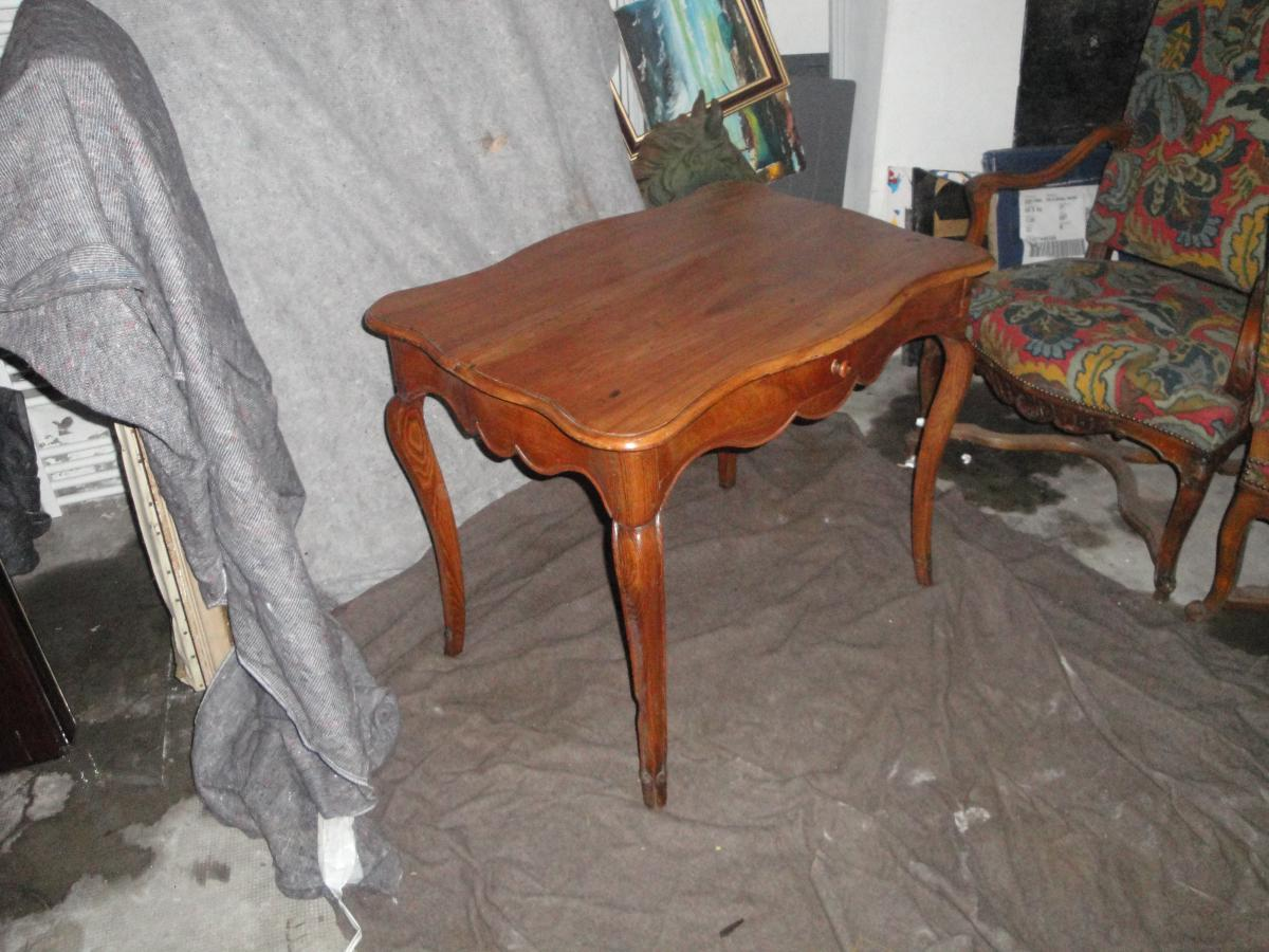 Louis Table 15 Wood Frutier Eventful All Faces 18th Time-photo-2