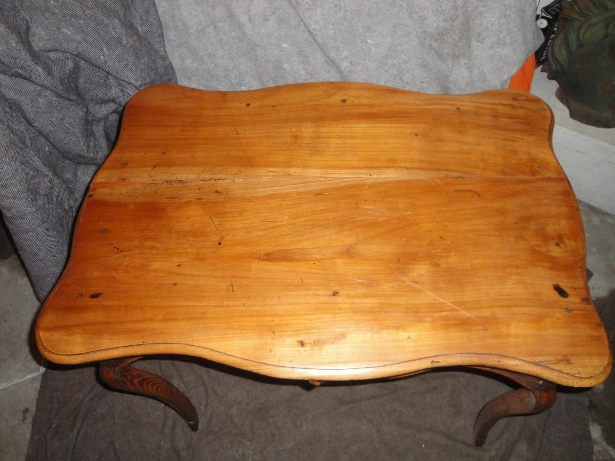 Louis Table 15 Wood Frutier Eventful All Faces 18th Time-photo-3