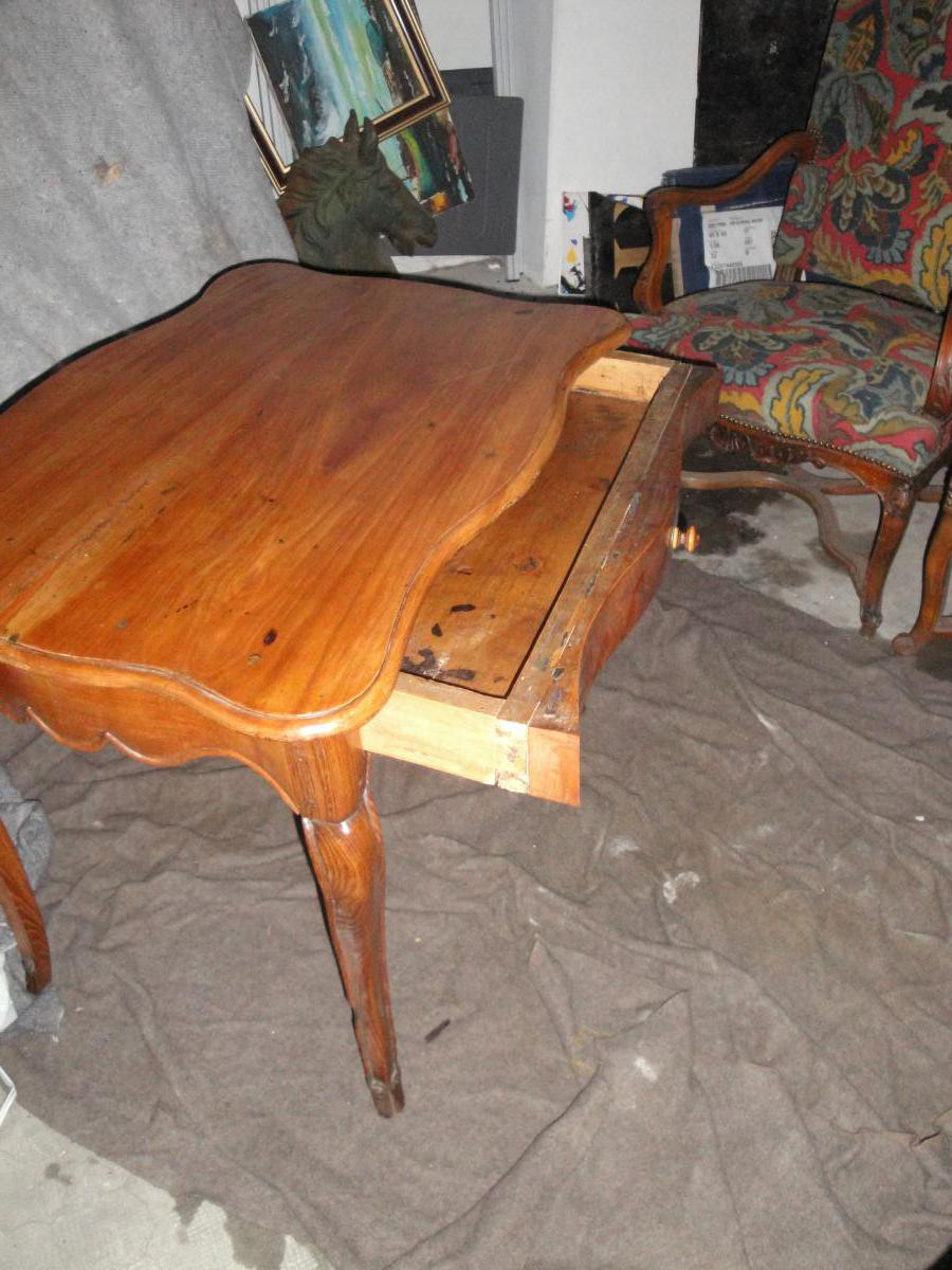 Louis Table 15 Wood Frutier Eventful All Faces 18th Time-photo-4