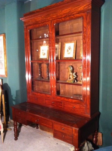 Mahogany Bureau Library 19th