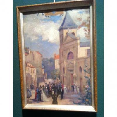 Huille On Canvas Attributed Al Garrand