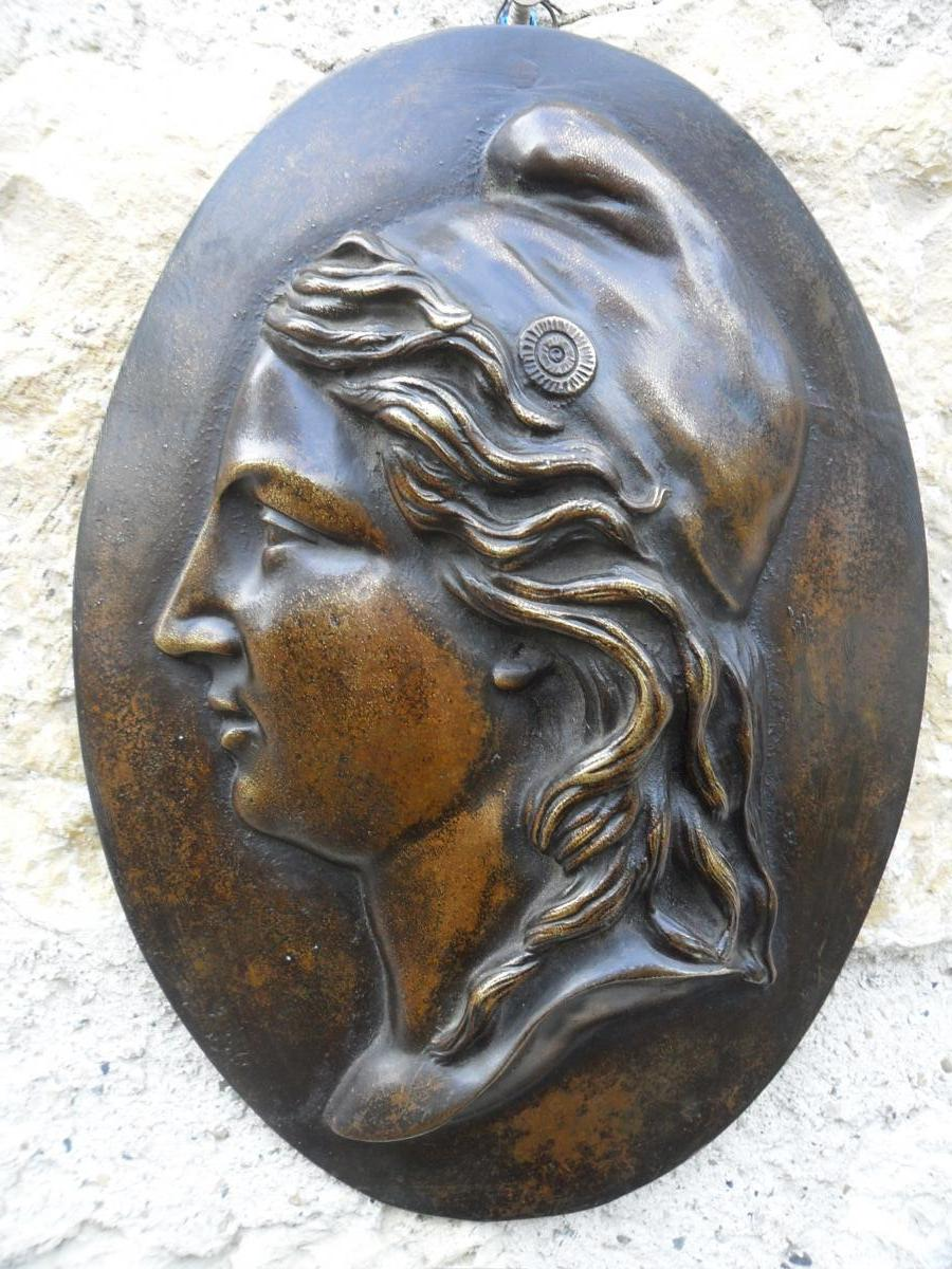 Médaillon en Bronze de Marianne