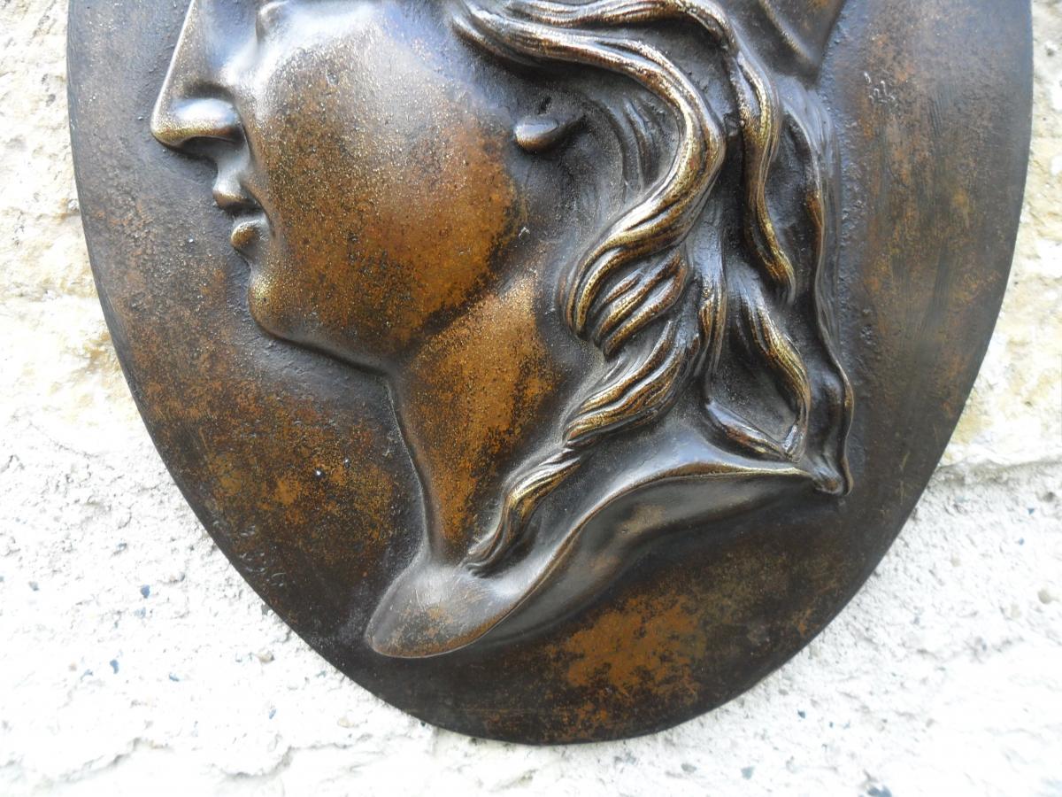 Médaillon en Bronze de Marianne-photo-2