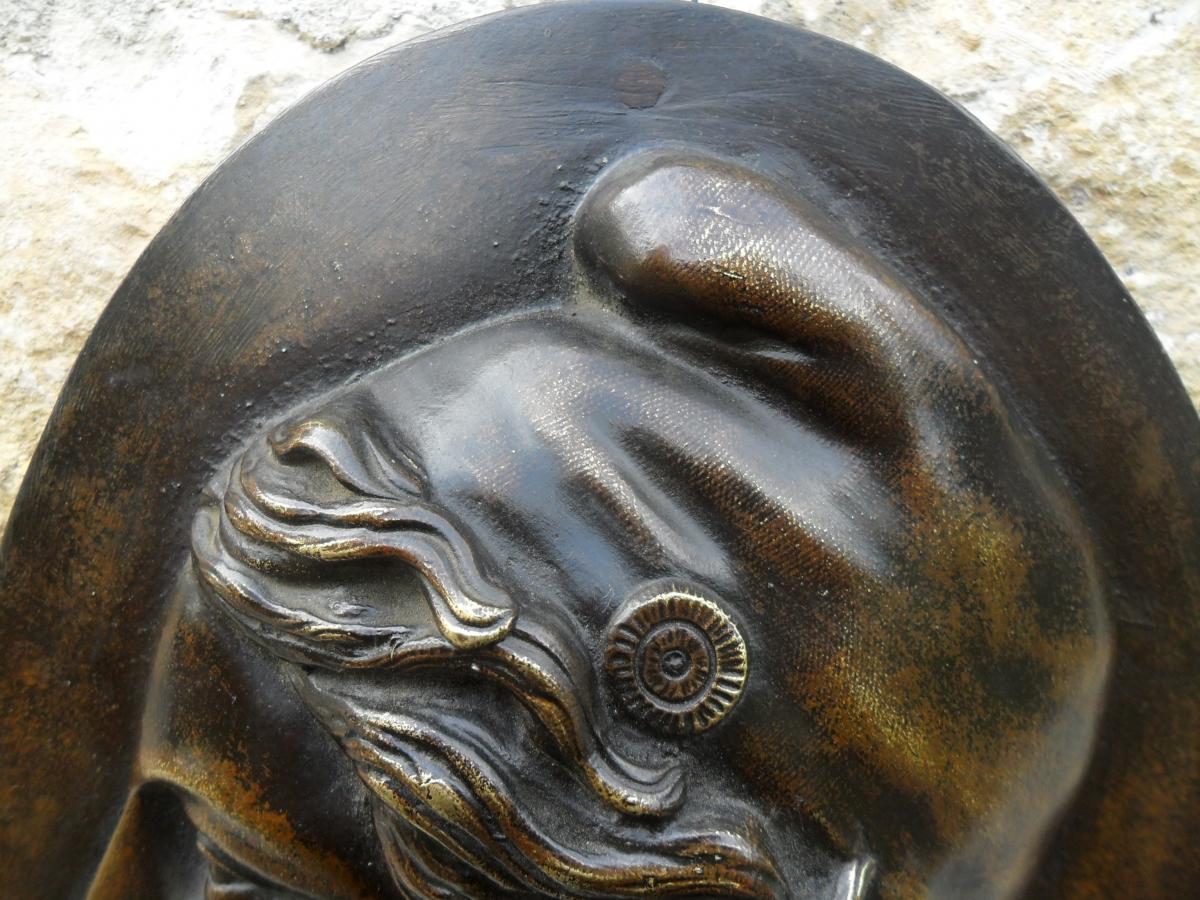Médaillon en Bronze de Marianne-photo-3