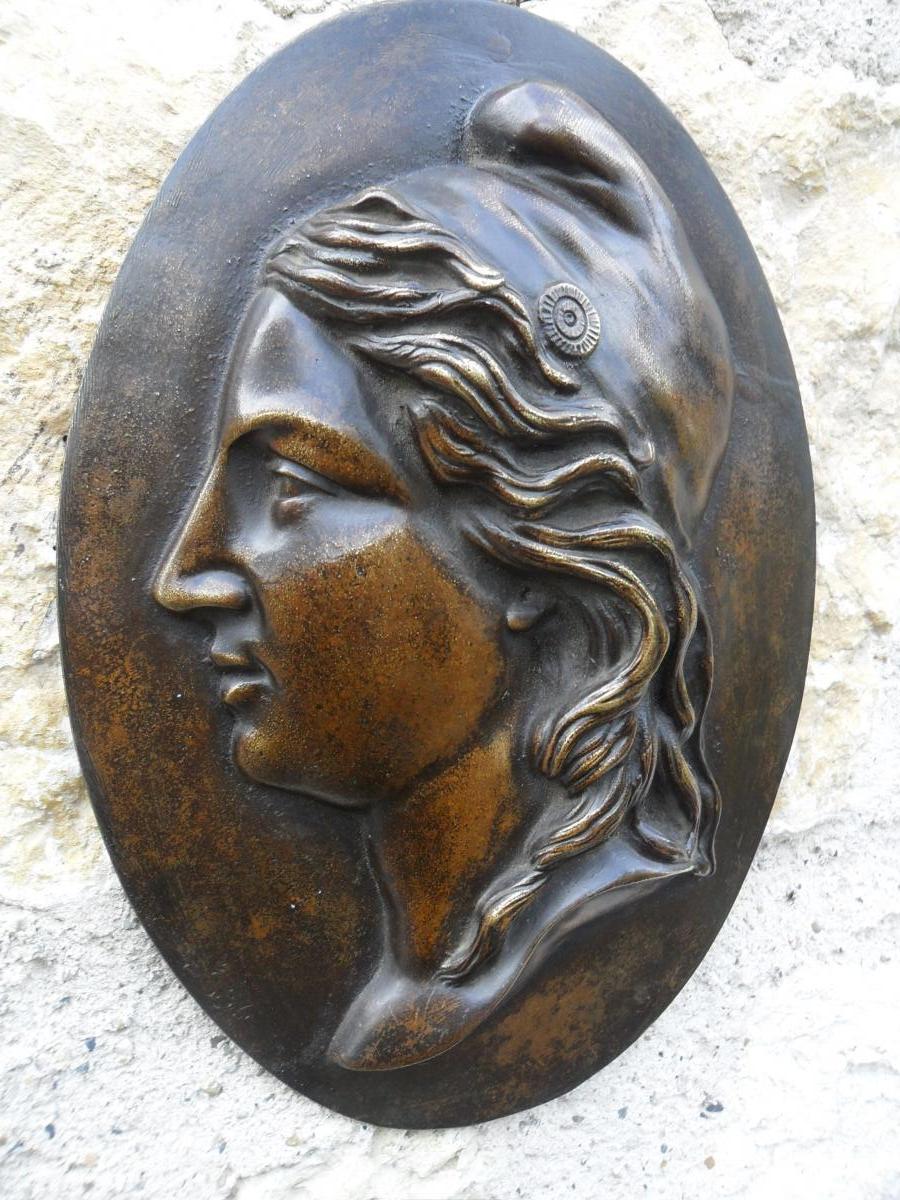 Médaillon en Bronze de Marianne-photo-4