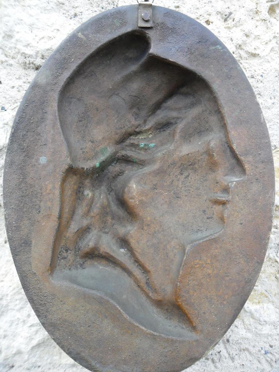 Médaillon en Bronze de Marianne-photo-1