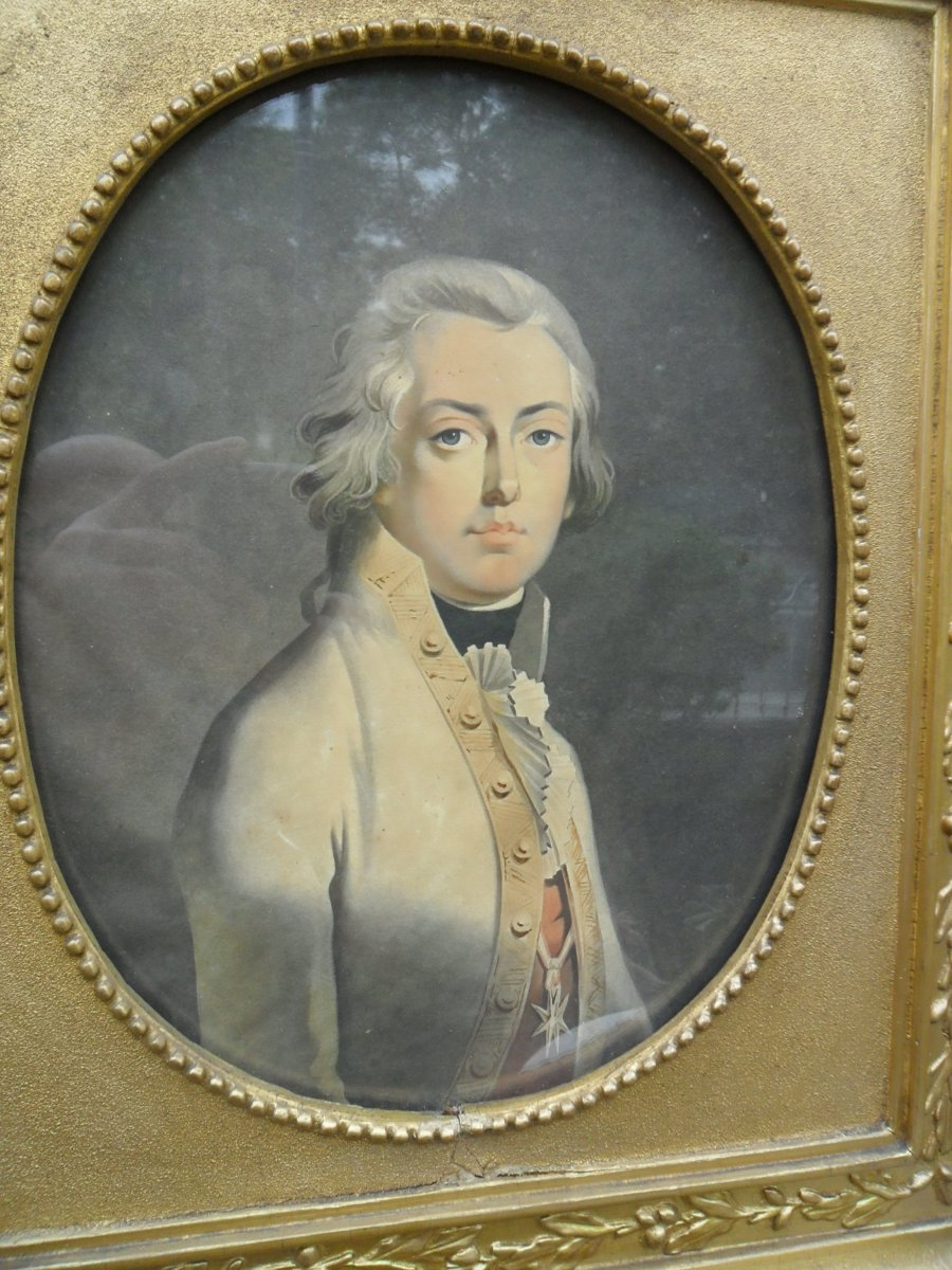 Portrait Of A Young Man In Medallion